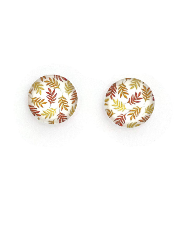 Golden Leaves Stud Earrings