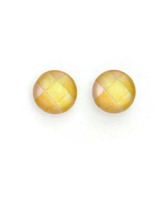 Yellow Shades Stud Earrings