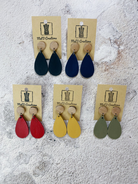 Molly Dangle Earrings - Available in a variety of colours