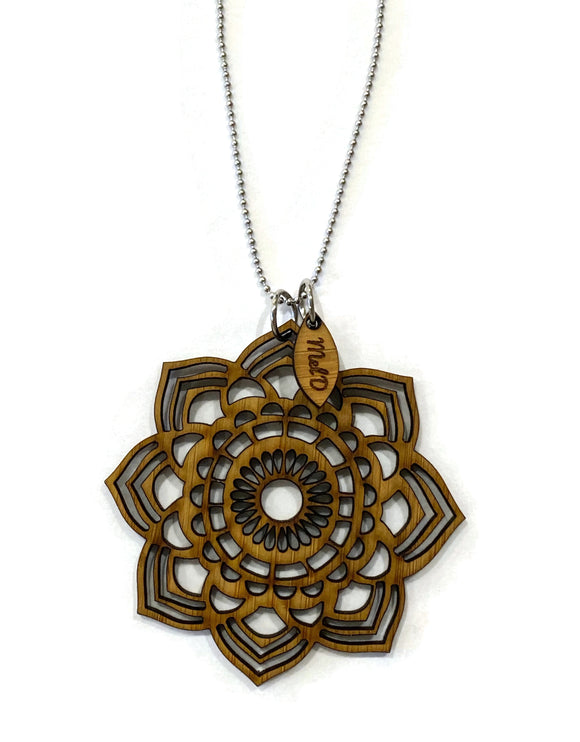 Bamboo Mandala Necklace