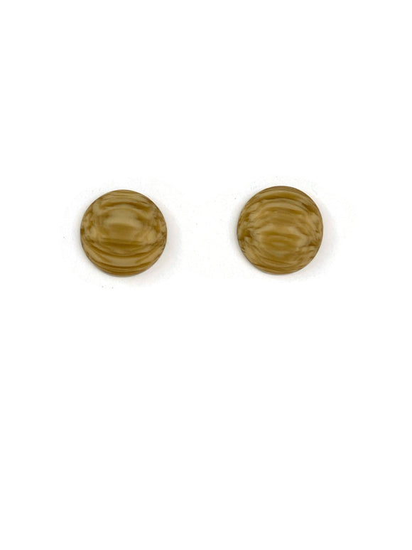Frosted Imitation Wood Resin Stud Earrings