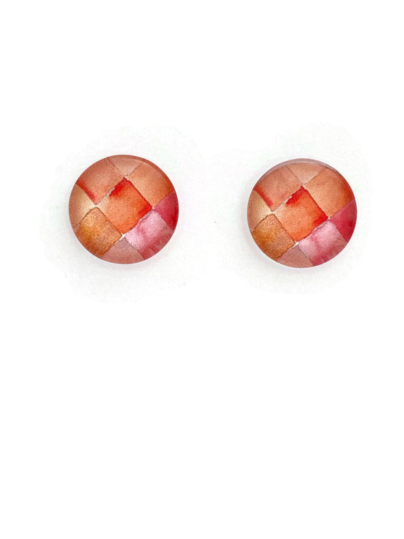 Orange Shades Stud Earrings