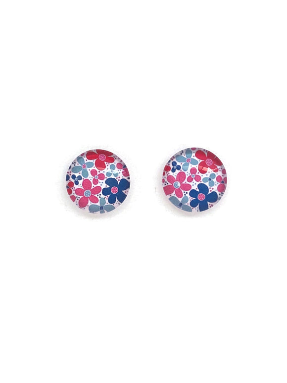 Funky Flowers Stud Earrings