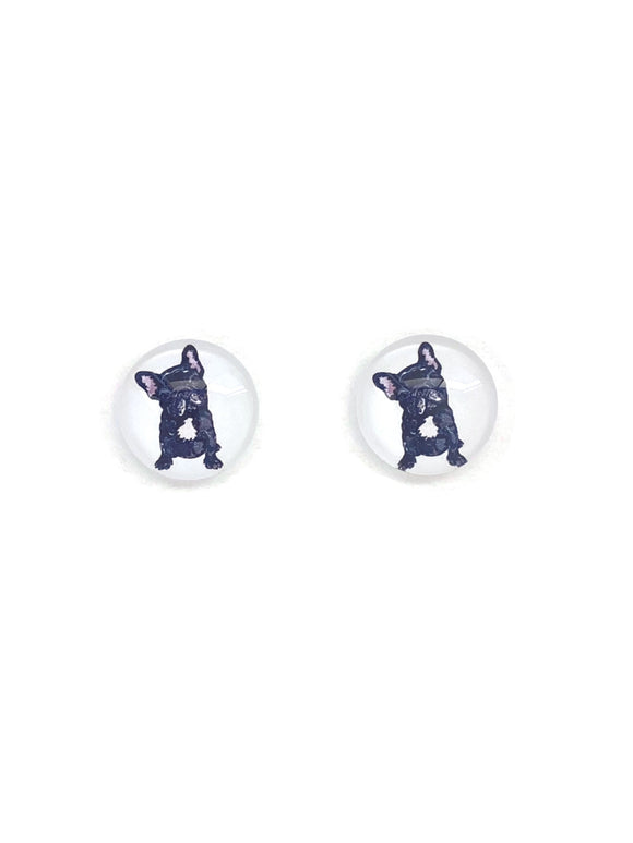 Frenchie Stud Earrings