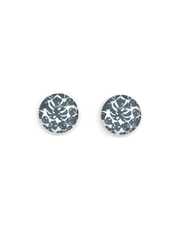 Monstera Leaves Studs Earrings