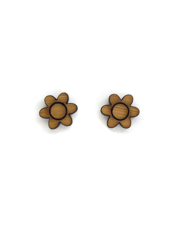 Bamboo Flower Stud Earrings