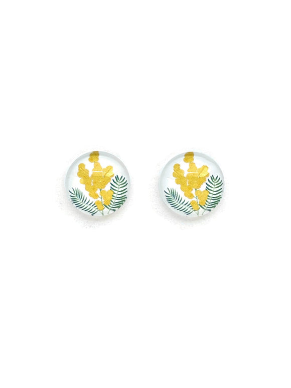 Golden Wattle Stud Earrings