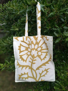 Organic Cotton Tote Bag Printed with Natural dyed