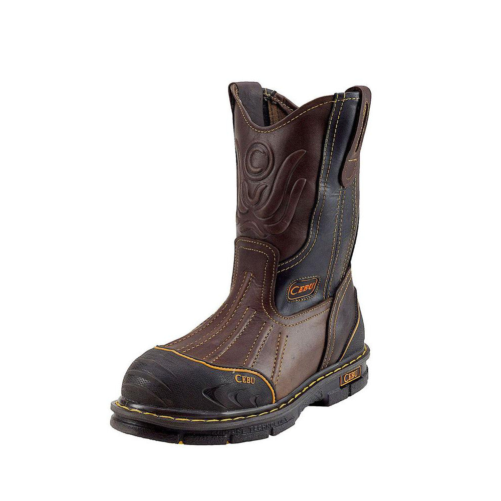 Cebu Work Boot A/BRD Shark w/Steel Toe - Brown