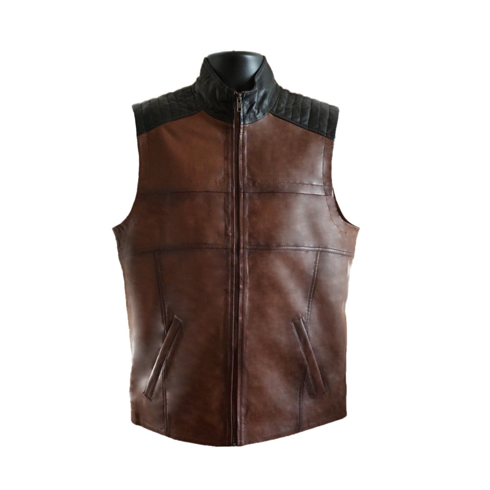 AJ Leather Zipper Vest