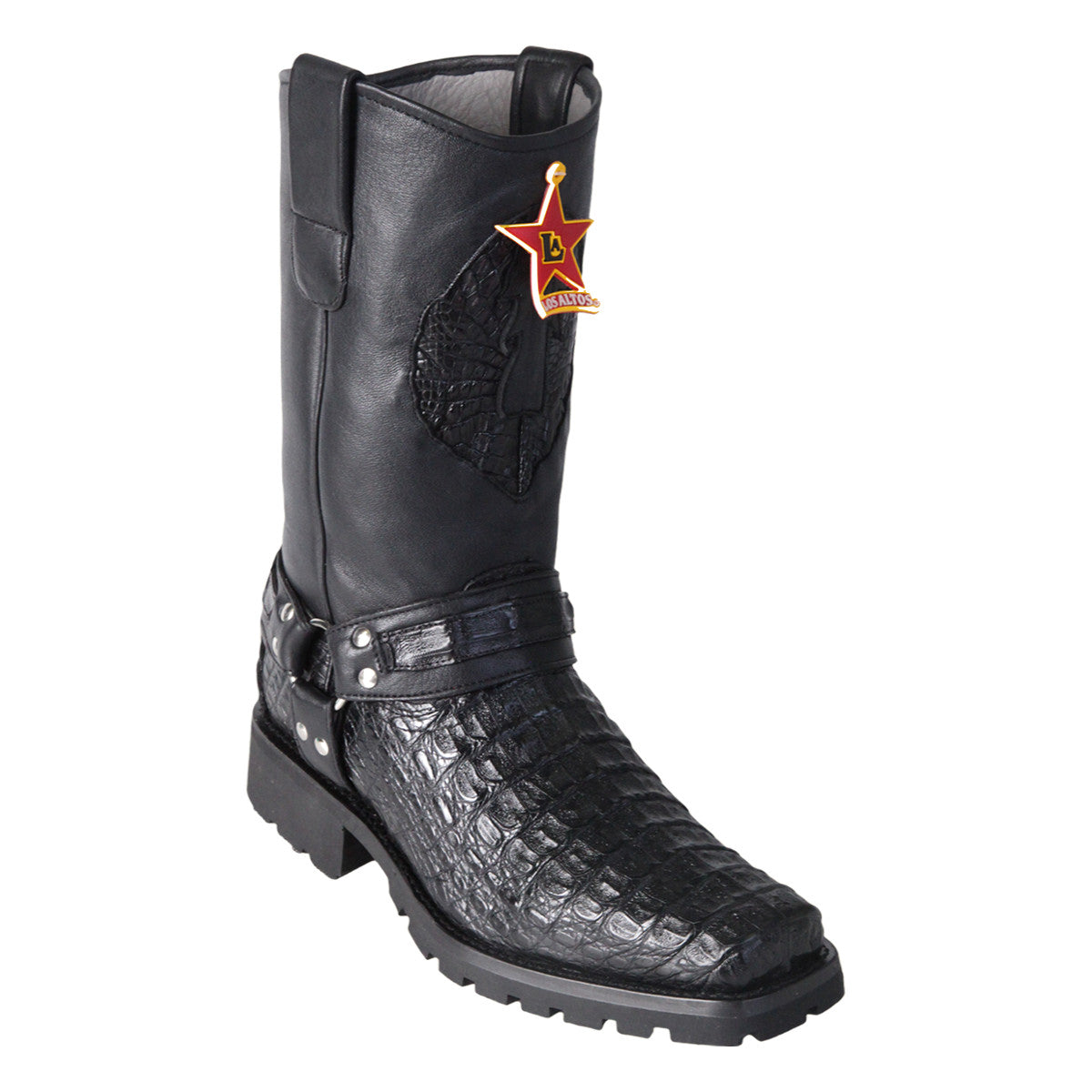 Los Altos Boots Biker Boots Smooth Caiman