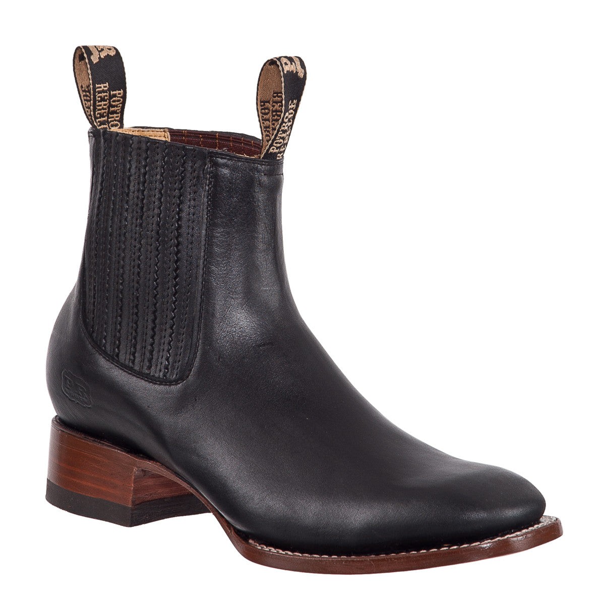 Rodeo Toe Leather Short Boot for Kids