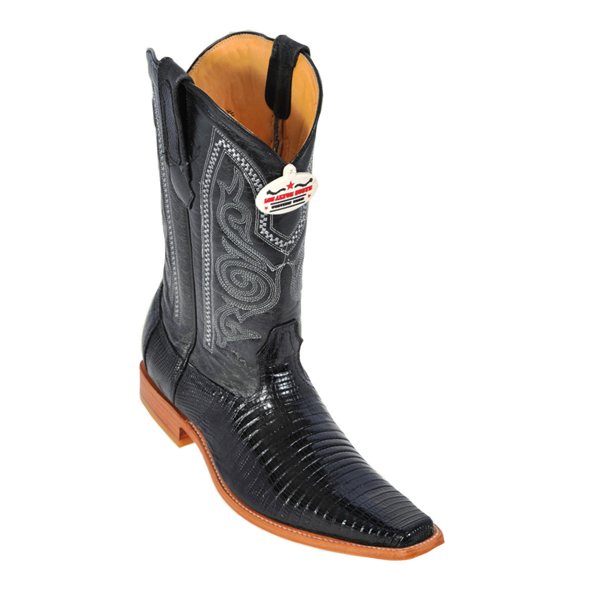 Los Altos Boots Narrow Square Toe Lizard