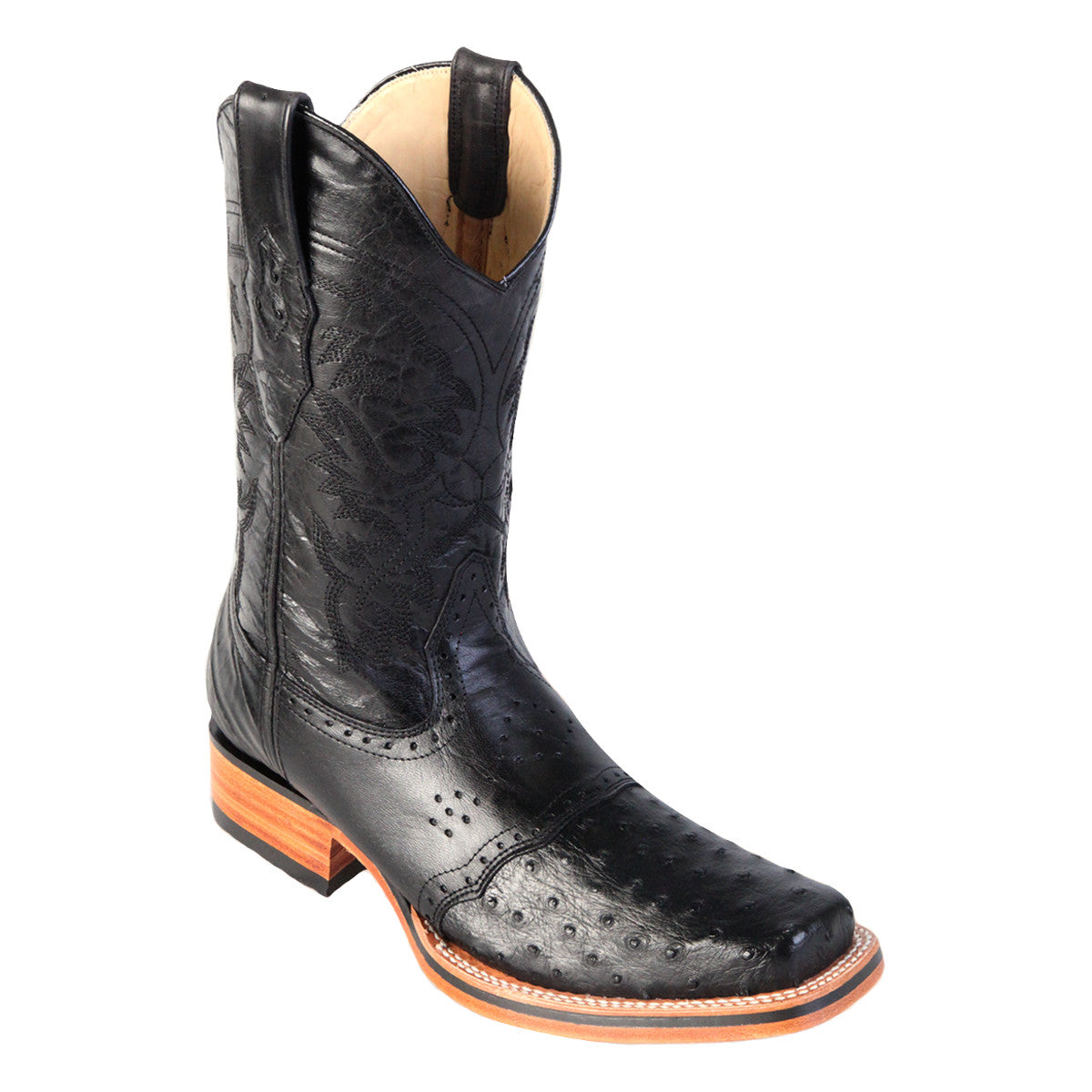 Los Altos Boots Rodeo Boot Ostrich w/Saddle