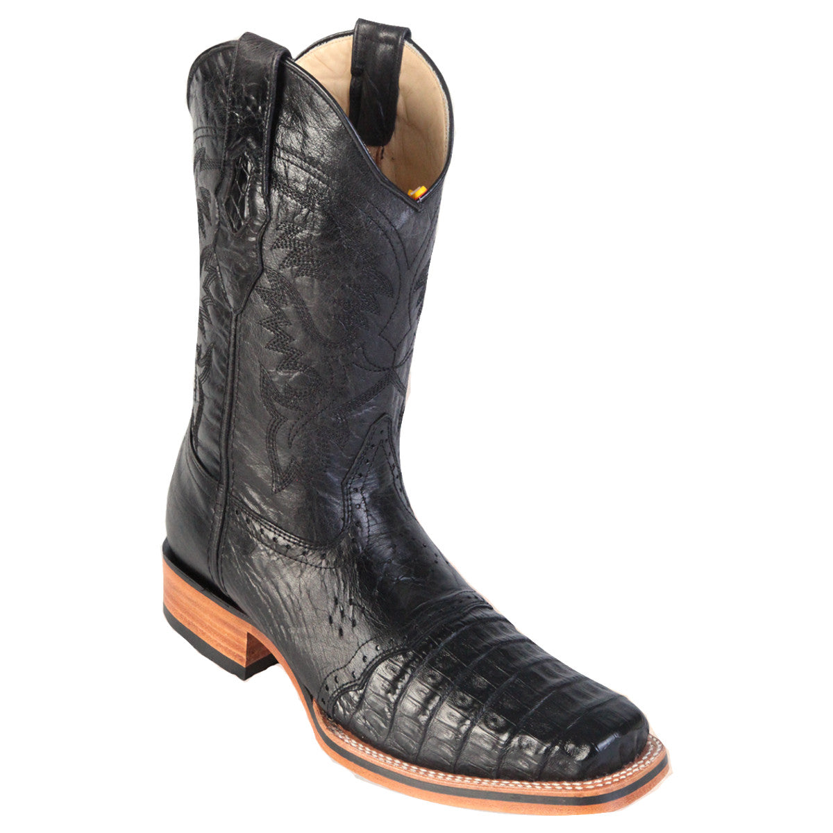 Los Altos Boots Rodeo Boot Caiman Belly w/Saddle