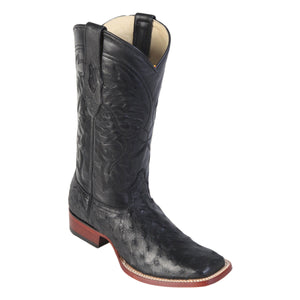 Los Altos Boots 822 Wide Square Toe Ostrich