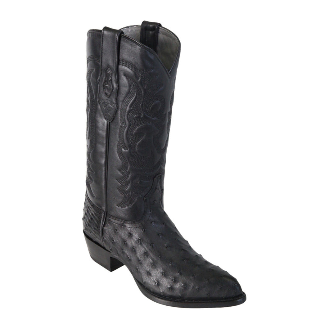 Los Altos Boots H99 J-Toe Ostrich - Black