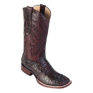 Los Altos Boots Wide Square Toe Caiman Hornback