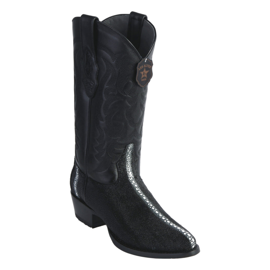 Los Altos Boots Round Toe Stingray Rowstone