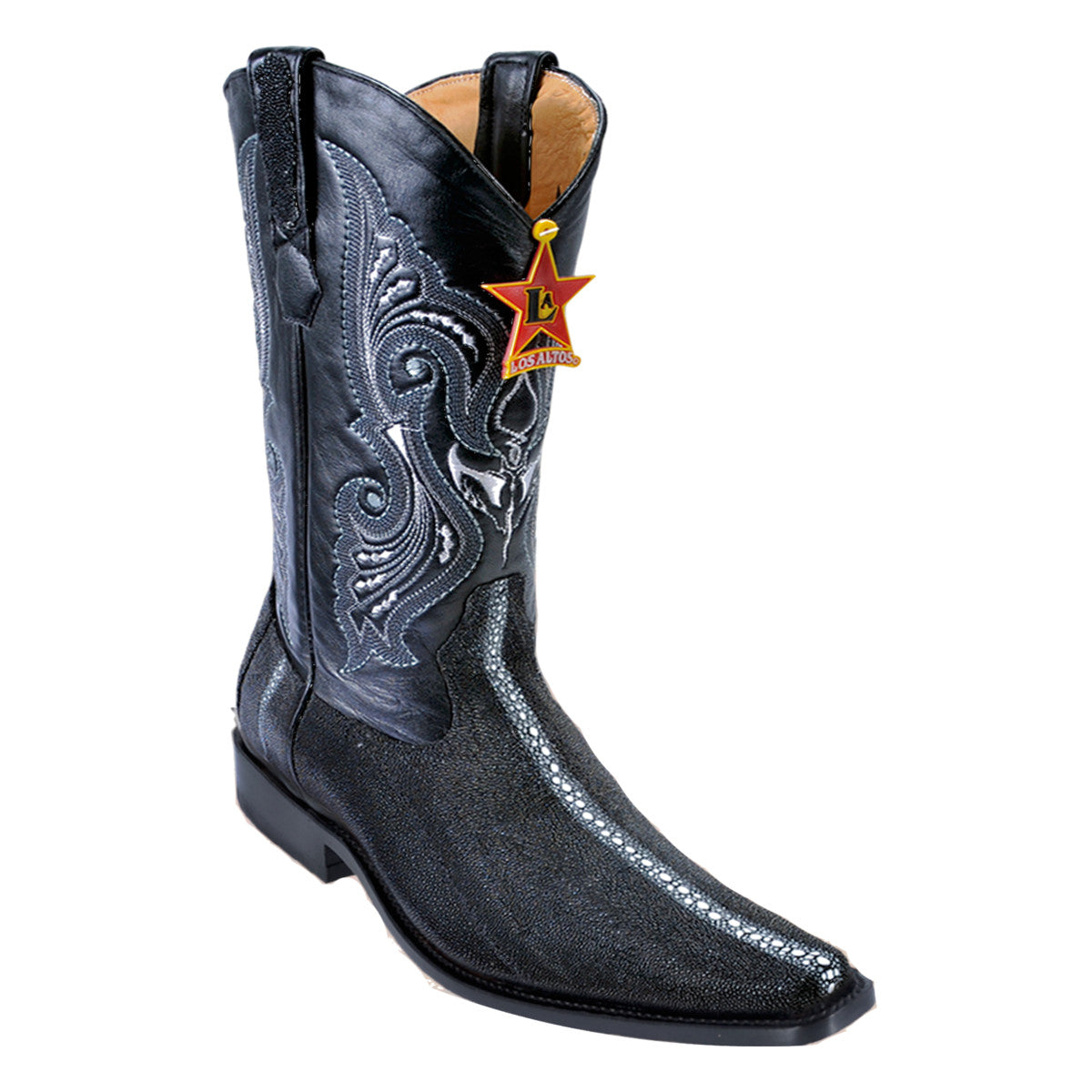 Los Altos Boots Narrow Square Toe Stingray Rowstone