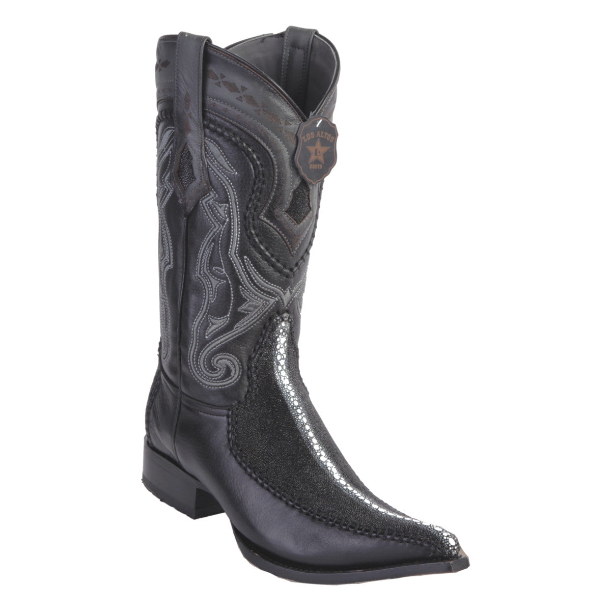 Los Altos Boots 3x Toe Stitched Stingray Rowstone w/Deer