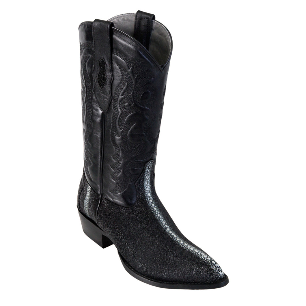 Los Altos Boots H99 J-Toe Stingray Rowstone - Black