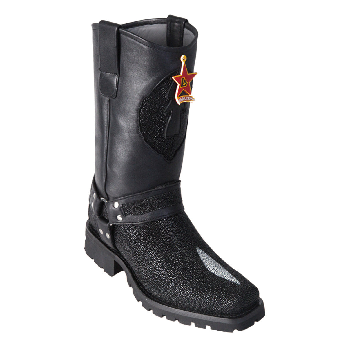Los Altos Boots Biker Boot Stingray Single Stone
