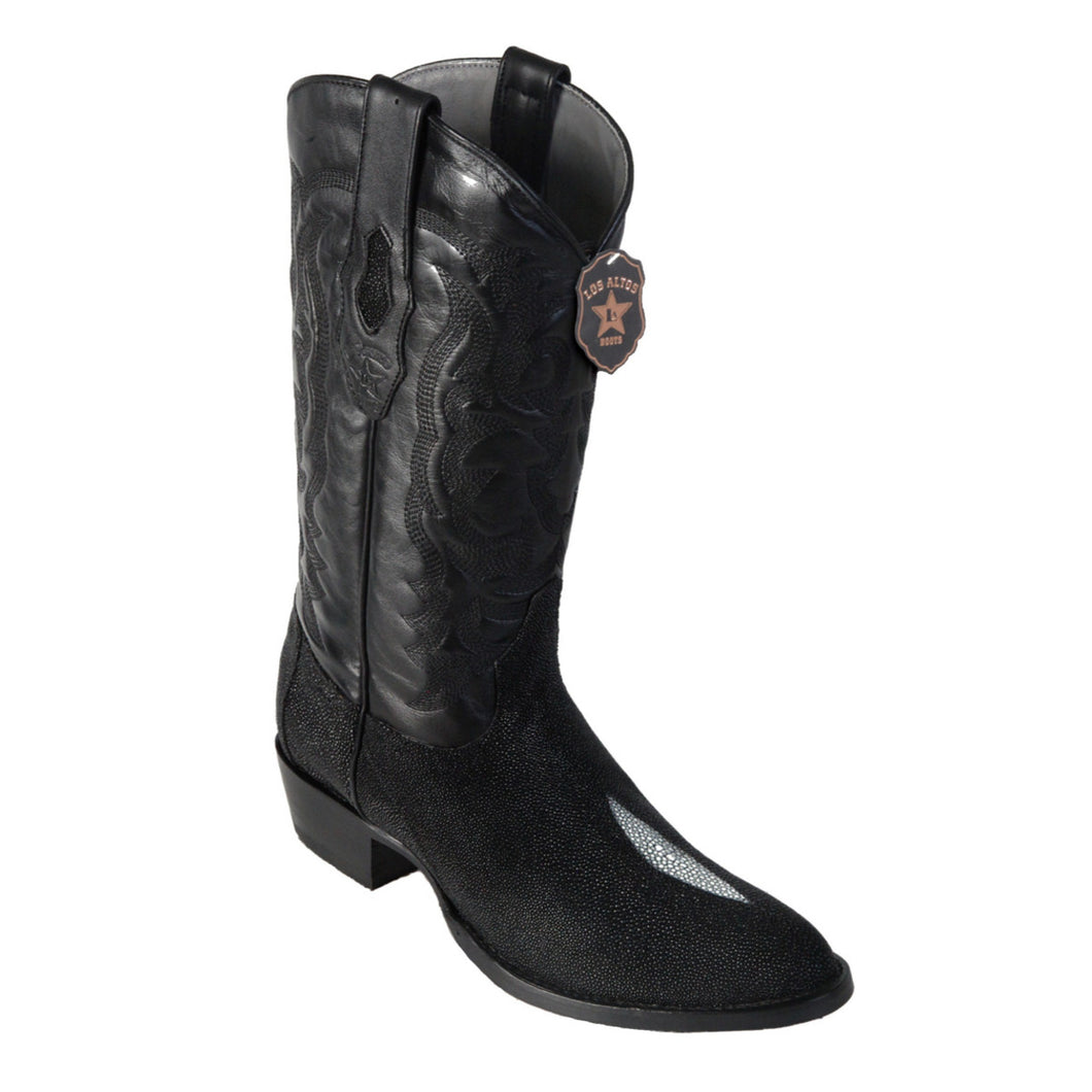 Los Altos Boots Round Toe Stingray Single Stone