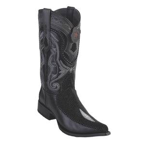 Los Altos Boots 3x Toe Stitched Stingray Single Stone w/Deer