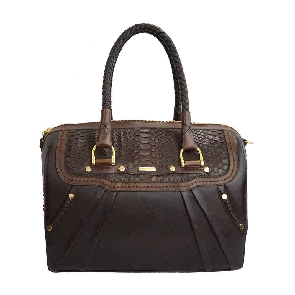 Women's Cuadra Python Purse - Brown