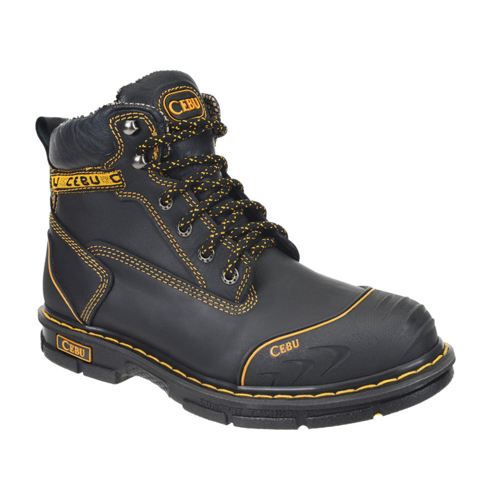Cebu Work Boot Borce Shark - Black