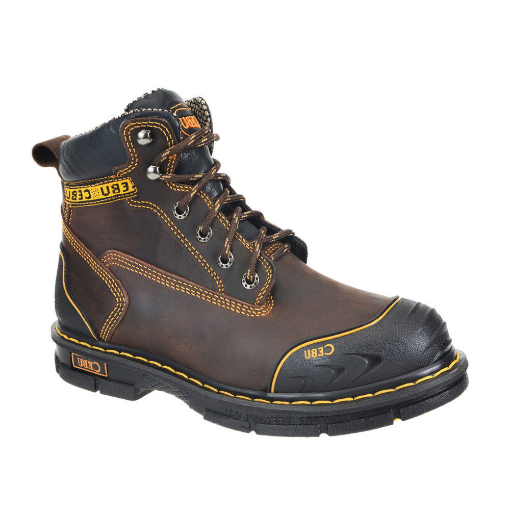 Cebu Work Boot A/Borce Shark w/Steel Toe - Brown