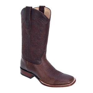 Los Altos Boots Wide Square Toe Bull Shoulder