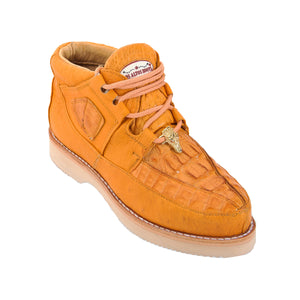 Los Altos Boots Casual Shoes Caiman w/Smooth Ostrich