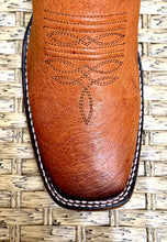 Load image into Gallery viewer, Bota Cuadra Wide Square Toe Smooth Ostrich 3Z01AB - Flame Miel