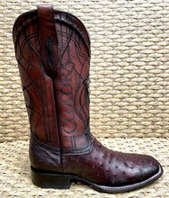 Load image into Gallery viewer, Bota Cuadra Wide Square Toe Ostrich 3Z1OA1 - Black Cherry