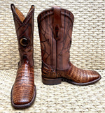 Bota Cuadra Wide Square Toe Fuscus Caiman Belly 3Z1OFY - Porto Maple