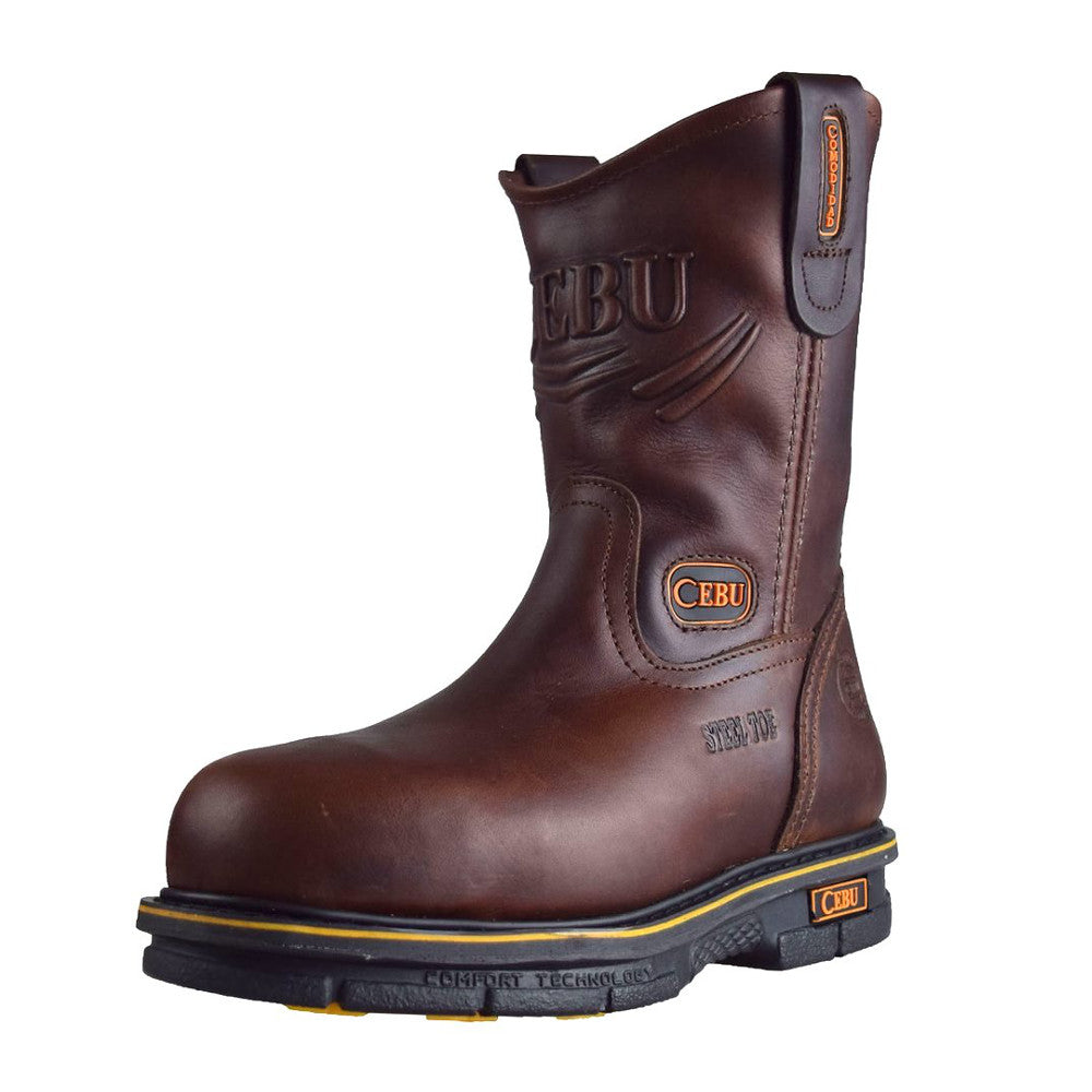 Cebu Work Boot A/Max w/Steel Toe - Brown