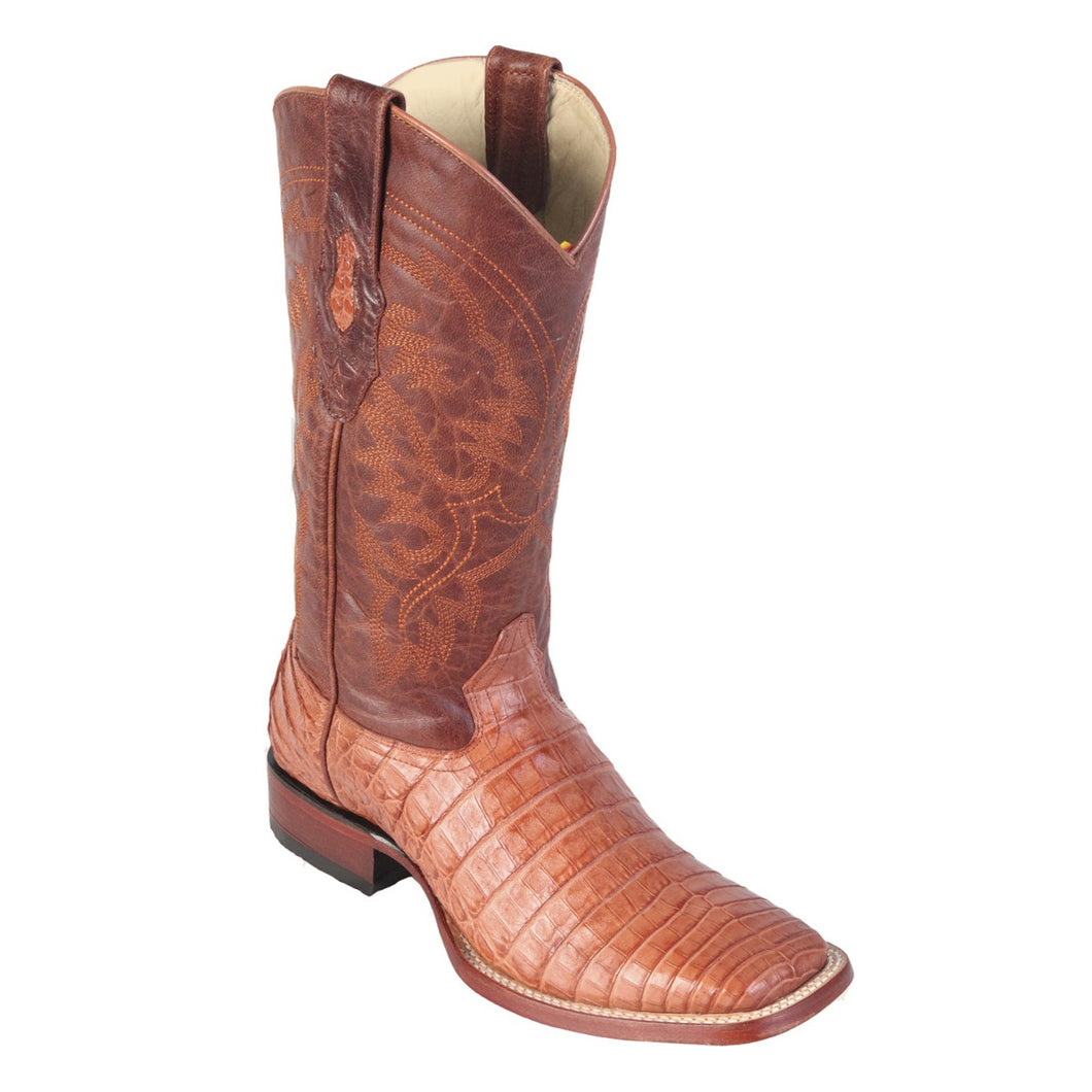 Los Altos Boots 822 Wide Square Toe Caiman Belly