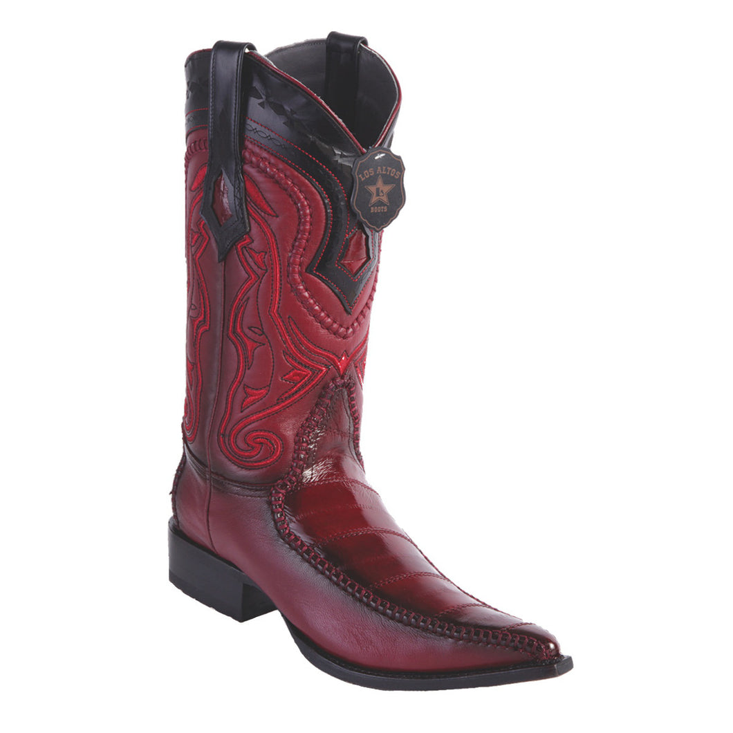 Los Altos Boots H95 3x Toe Stitched EEL - Faded Burgundy