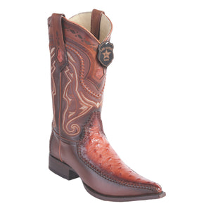 Los Altos Boots 3x Toe Stitched Ostrich w/Deer
