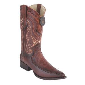 Los Altos Boots 3x Toe Stitched Shark w/Deer
