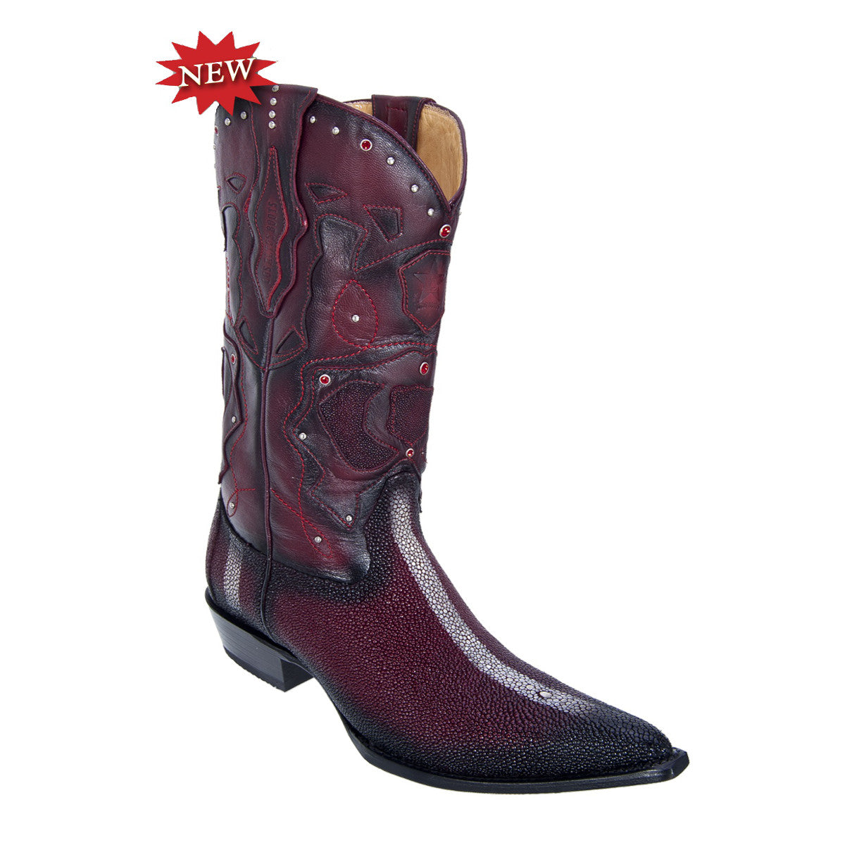 Los Altos Boots 3X Toe w/Cowboy Heel Stingray Rowstone Finish