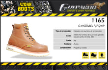 Load image into Gallery viewer, Guepardo 1165 G-H5 Steel Toe Work Boot - Honey