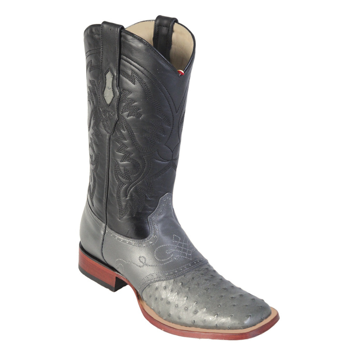 Los Altos Boots H82 Wide Square Toe Ostrich - Gray