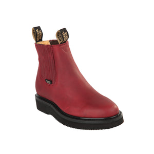 Original Michel H54 Men's Work Boots - Grasso Burgundy