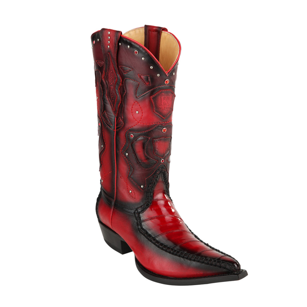 King Exotic H95 3x Toe Eel Stitched - Red
