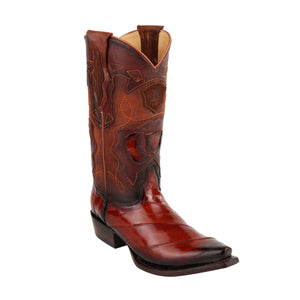 King Exotic H94 Snip Toe Eel - Faded Cognac