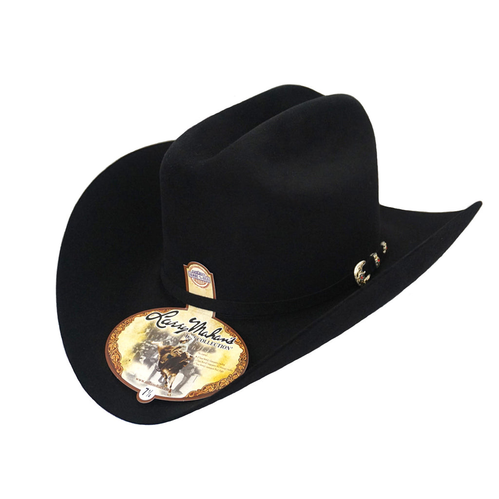 Larry Mahan's 6x Real Felt Hat - Black