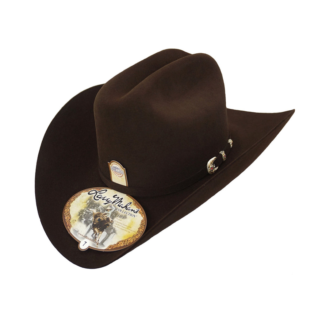Larry Mahan's 6x Real Felt Hat - Brown